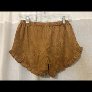 Cotton Candy Shorts - Brown suede shorts